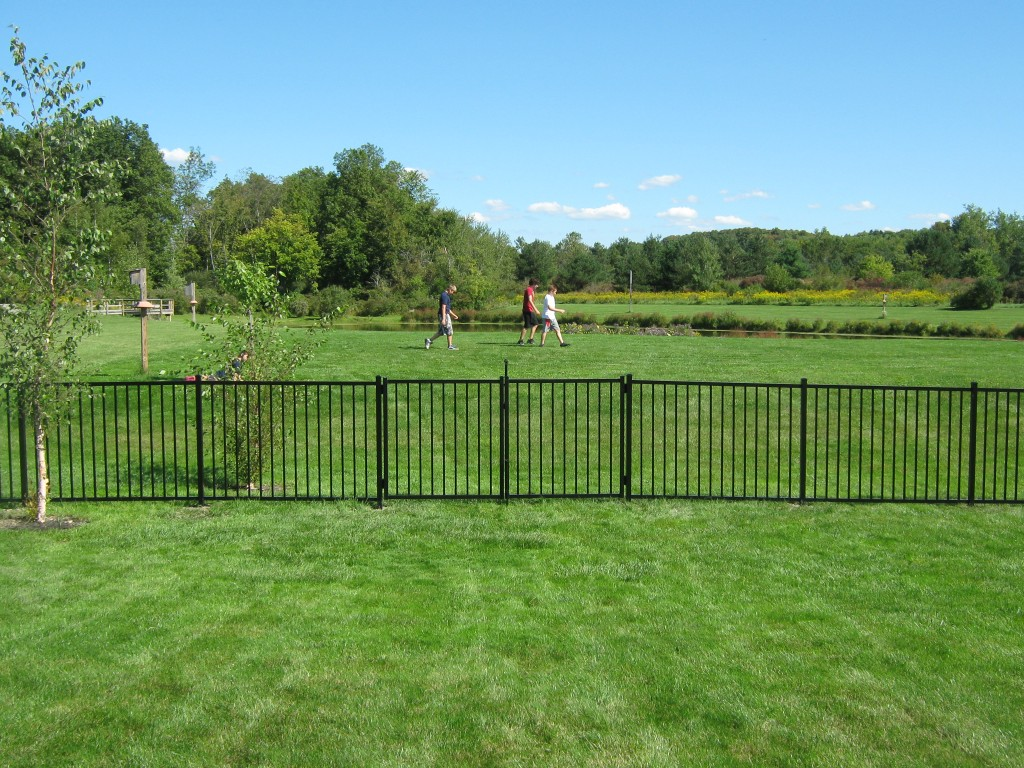 Aluminum sadler fence and staining