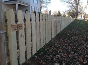 pressure treated gothic picket fence