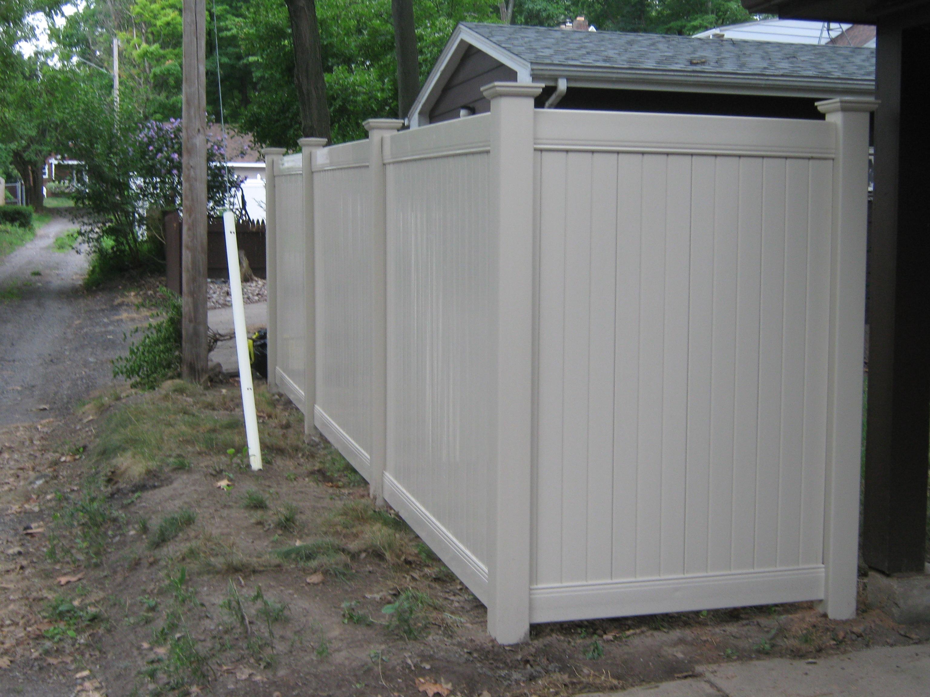 bufftechâ vinyl fences sadler fence and staining llc